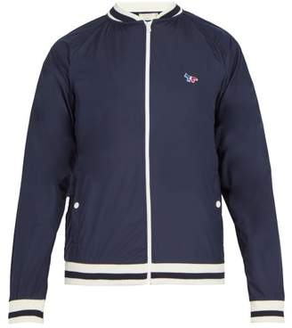 MAISON KITSUNÉ Fox Applique Windbreaker Jacket - Mens - Navy
