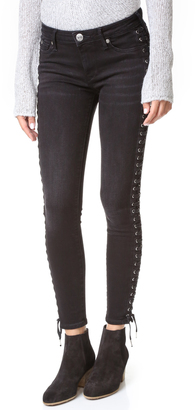 True Religion Halle Crop Full Lace Up Jeans $269 thestylecure.com