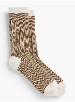 Talbots Herringbone Trouser Sock