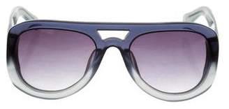 Dries Van Noten Linda Farrow x Aviator Tinted Sunglasses
