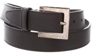 Dolce & Gabbana Leather Skinny Belt