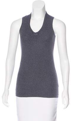 Brunello Cucinelli Rib Knit Sleeveless Top
