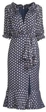 Saloni Olivia A-Line Wrap Dress