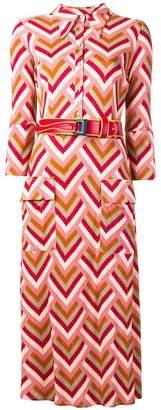Elisabetta Franchi zigzag printed dress