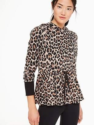d01b74e0ba19 Kate Spade Leopard-print Terry Hoodie, Roasted Peanut - Size L