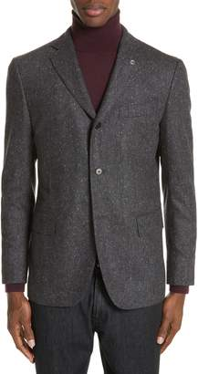 Eidos Trim Fit Three Button Wool Blazer