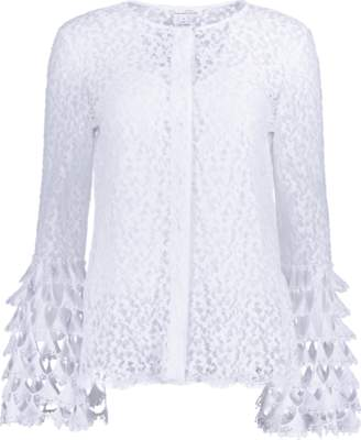 Oscar de la Renta Lace Blouse With Camisole