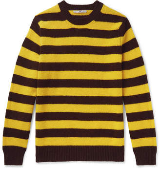 Melange Home Connolly - + Goodwood Striped Shetland Wool And Cashmere-blend Sweater - Yellow