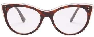 Valentino Cat Eye Acetate Glasses - Womens - Tortoiseshell