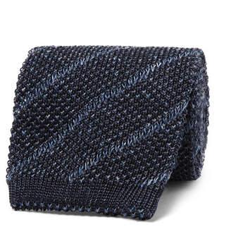 Brunello Cucinelli 7cm Knitted Silk And Linen-Blend Tie