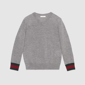 Gucci Children's merino sweater with Web
