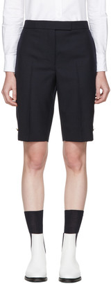 Thom Browne Navy Classic Bermuda Shorts $850 thestylecure.com