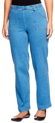"Denim & Co. How Timeless"" Tall Stretch Denim Pull-On Jeans"