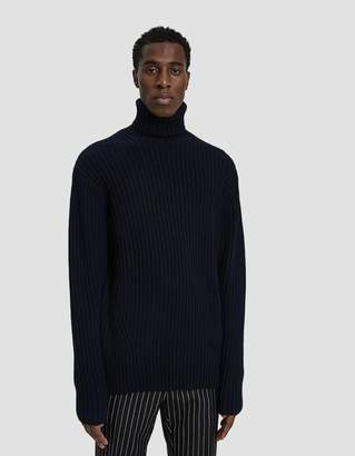 Dries Van Noten Knit Turtleneck Sweater in Navy