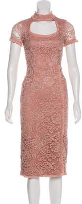Alexis Lace Midi Dress Mauve Lace Midi Dress