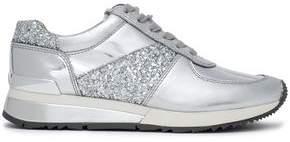 MICHAEL Michael Kors Glittered Metallic Leather Sneakers