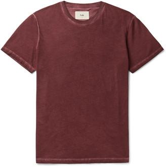 Folk Assembly Garment-Dyed Cotton-Jersey T-Shirt - Men - Burgundy