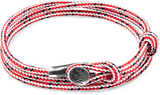 Anchor And Crew Dundee Silver & Rope Bracelet