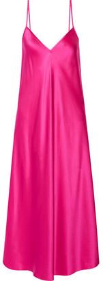 Ellery - Technopriest Silk-satin Midi Dress - Fuchsia $590 thestylecure.com