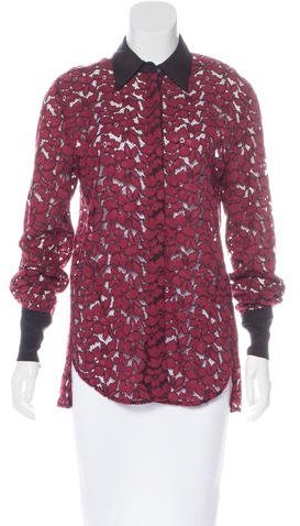 3.1 Phillip Lim 3.1 Phillip Lim Lace Button-Up Top w/ Tags