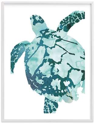 Pottery Barn Teen Tropical Sea Turtle, Wall Art by Minted, 30&quotx40&quot, White