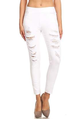 Color 5 White Denim Jeggings