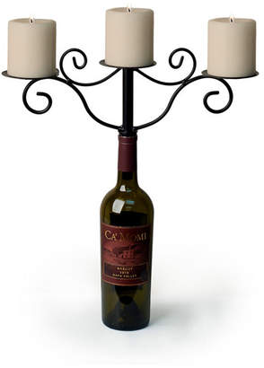 Danya B. Wrought Iron Wine Bottle 3-candle Candleholder