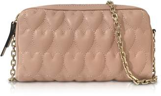 RED Valentino Beating Hearts Nappa Leather Chain Shoulder Bag