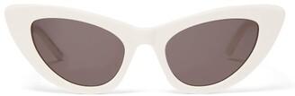 Saint Laurent Lily Cat Eye Acetate Sunglasses - Womens - Ivory