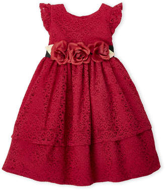 Laura Ashley Infant Girls) Two-Piece Lace Tiered Dress & Bloomers Set
