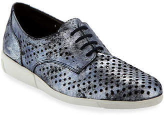 Sesto Meucci Dira Perforated Lace-Up Sneakers, Blue Moon