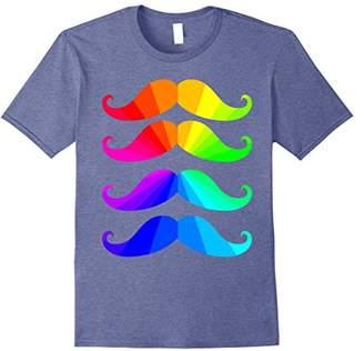 Mustache Color Spectrum - Colorful Beard T Shirt