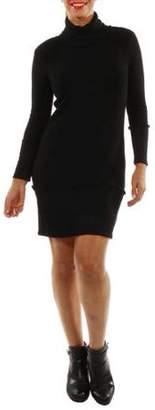 24/7 Comfort Apparel Women's Sleek Autumn Mock Turtleneck Dress
