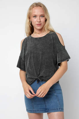 Z Supply Cold Shoulder Knot Front Tee