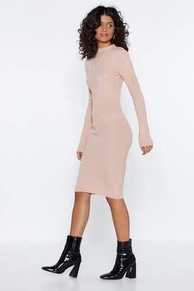 Nasty Gal Have Knit Your Way Midi Dress