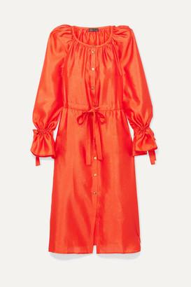 Stine Goya Jacques Satin Dress - Orange