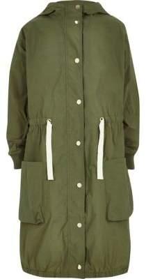River Island Girls khaki lightweight parka jacket