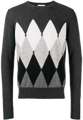 Ballantyne cashmere diamond pattern jumper