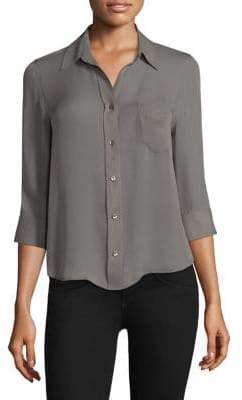 L'Agence Ryan Three-Quarter Sleeve Silk Blouse