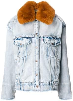 Levi's furry collar denim jacket
