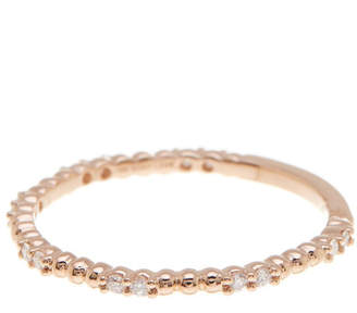 Bony Levy 18K Rose Gold Beaded & Diamond Stack Ring - 0.14 ctw