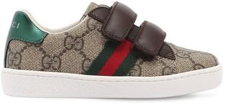 Gucci Gg Supreme Canvas & Leather Sneakers