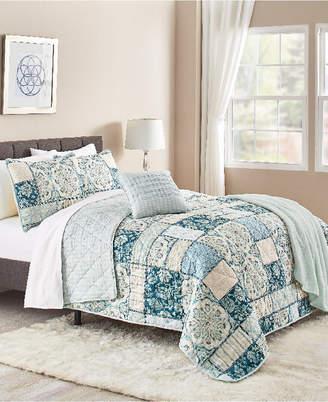 Sunham Tricia 5-Pc. Reversible King Quilt Set Bedding