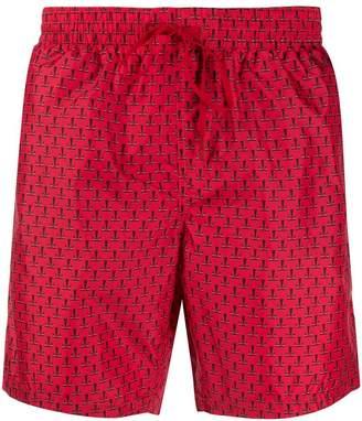 Fendi logo print swim shorts