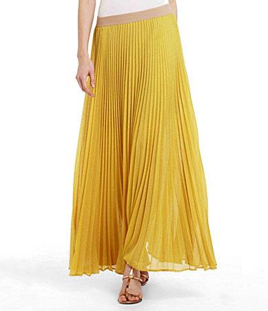 BCBGMAXAZRIA Estel Pleated Maxi Skirt