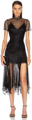Jonathan Simkhai Sateen Lingerie Lace Dress in Black   FWRD
