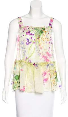Givenchy Silk Floral Print Top
