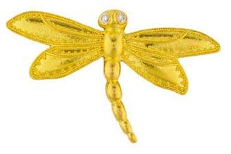 Brooch 22K Diamond Dragonfly Brooch