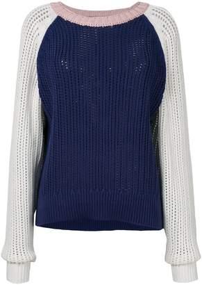 Michel Klein colour block knit jumper