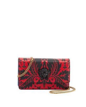 Versace Vitello Stampa Floral Barocco Crossbody Bag